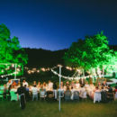 Lawn wedding reception